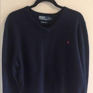 Polo V-Neck Sweater